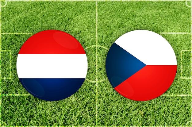 Partida de futebol holanda x república checa