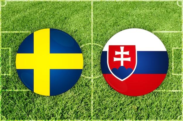 Partida de futebol suécia x eslováquia
