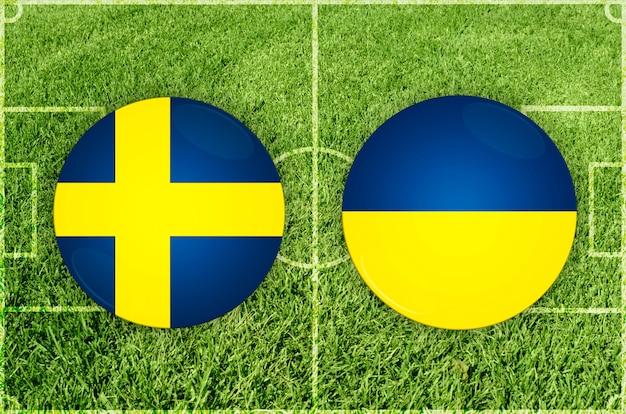 Partida de futebol suécia x ucrânia