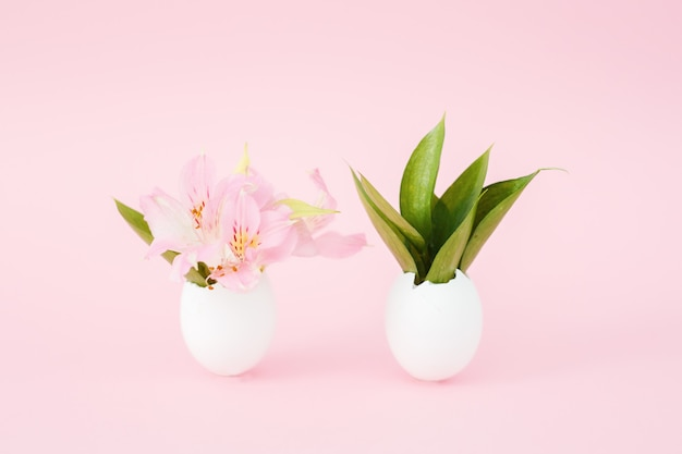 Páscoa, decoração, decoração de páscoa, ovo, flores