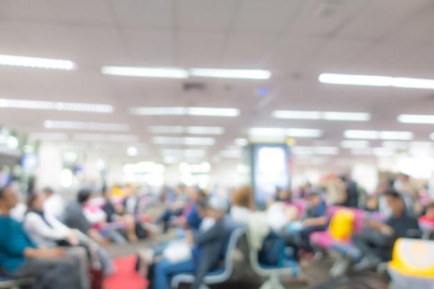 Passageiro abstrato do borrão no aeroporto.