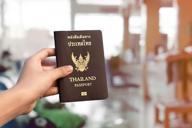 Passaporte de viagens de voo tailândia, conceito de viagem