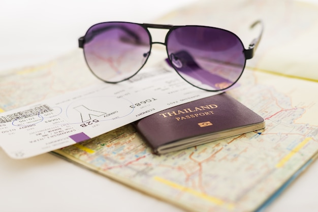 Passaporte no mapa