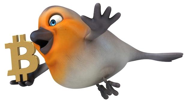 Pássaro divertido - ilustração 3d
