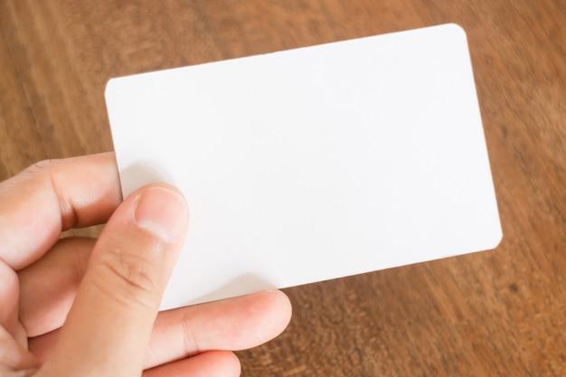 Passe segurar, um, cartão negócio