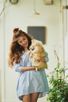 Passeando com cachorro