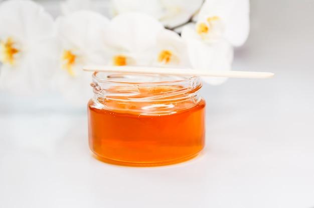 Pasta de açúcar para depilação. remoção de pêlos. spa e aromaterapia