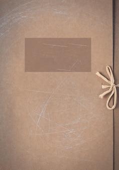 Pasta de papelão com um lugar para inscrição