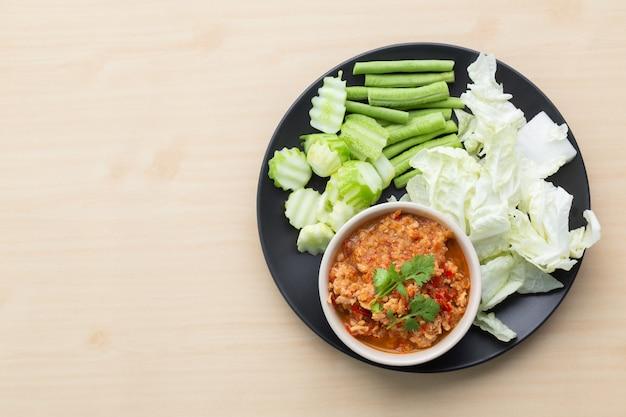 Pasta de pimenta estilo norte da tailândia