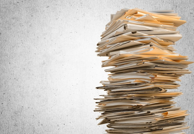 Pastas de arquivos com documentos em segundo plano