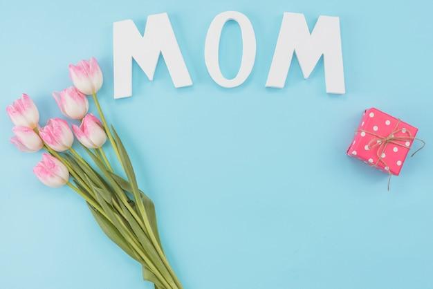 Pastel conjunto de atributos para o dia da mãe