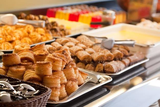 Pastelaria em buffet