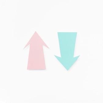 Patel cores símbolo de setas