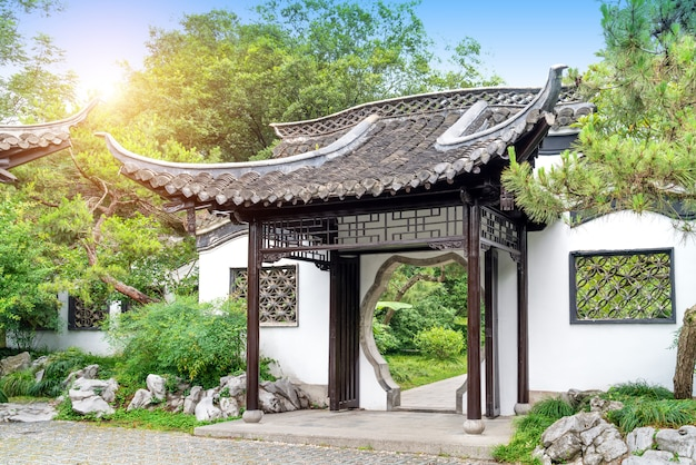 Pátio típico de estilo chinês