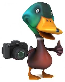 Pato divertido - ilustração 3d