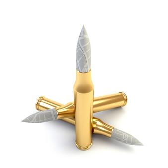 Patriota abstrato com uma bala de papel. jornalismo militar. ilustração 3d, render.