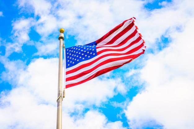 Patriotismo azul do símbolo da onda dos eua