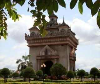 Patuxai portão em vientiane laos