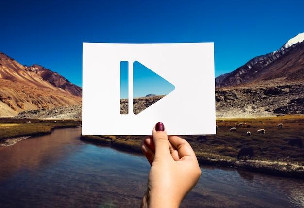 Pause paper multimedia entertainment paper perfurado