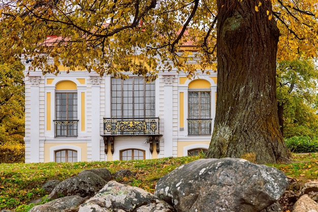 Pavilhão hermitage, peterhof, são petersburgo