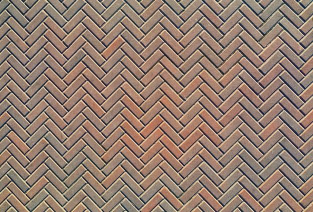 Pavimentação de azulejos antigos para o quintal, textura de vista superior.