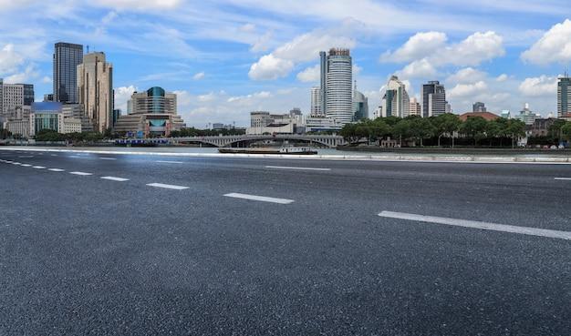 Pavimentação de estradas e horizonte de construção de arquitetura de ningbo