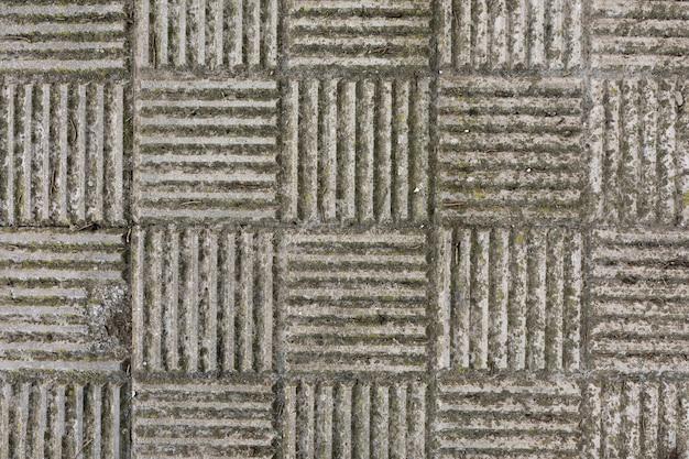 Pavimento com musgo e patetrn
