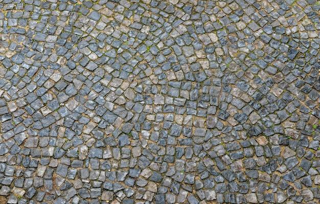 Pavimento da rua de paralelepípedos