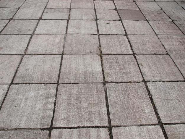Pavimento de calçada de concreto