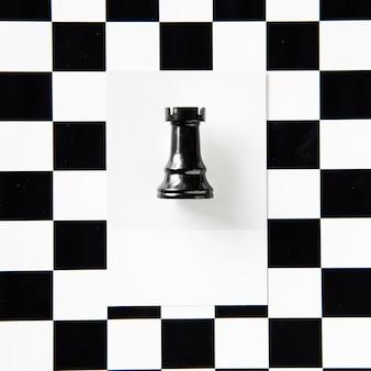 Peça de xadrez de torre em um padrão