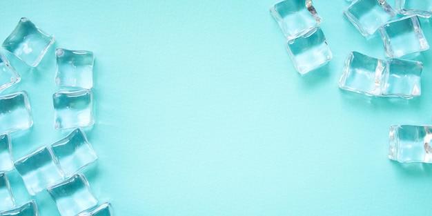 Peças artificiais de acrílico transparente em gelo reutilizáveis em plástico