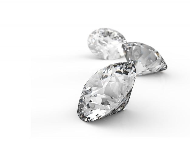 Peças de diamantes