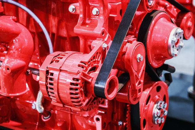 Peças de motores de combustão interna para máquinas de construção