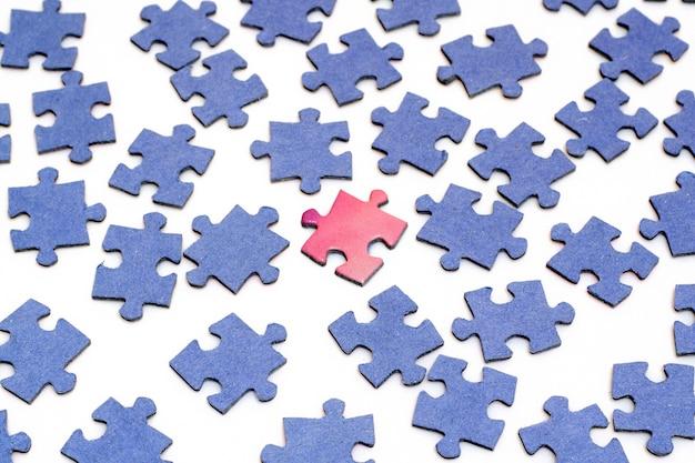 Peças de um quebra-cabeça