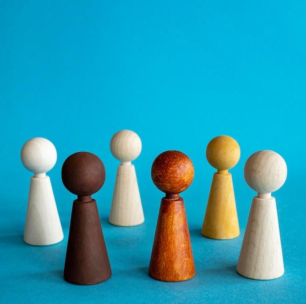 Peças de xadrez de madeira