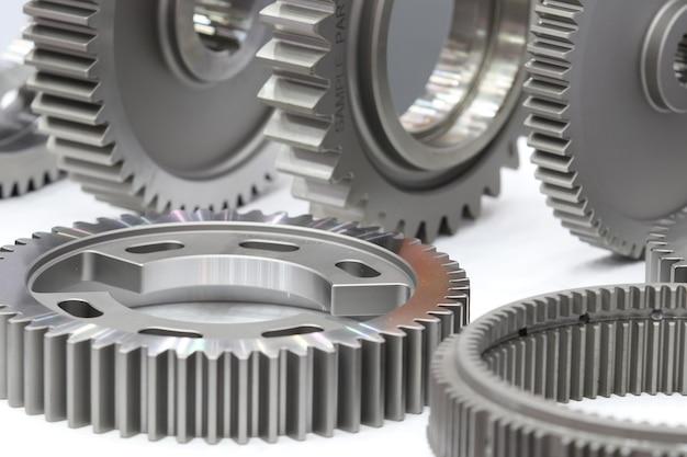 Peças sobressalentes de engrenagens industriais para máquinas pesadas; fechar-se