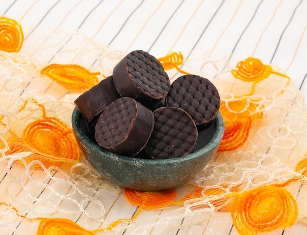 Peda de chocolate de comida doce indiana