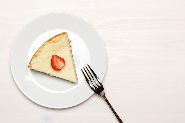 Pedaço de cheesecake