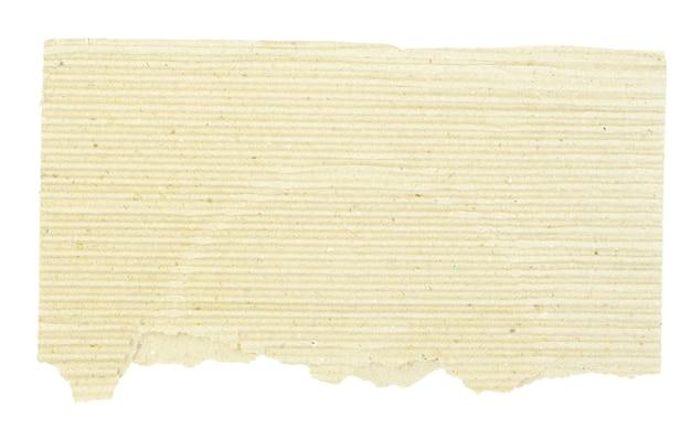 Pedaço de papelão marrom em branco