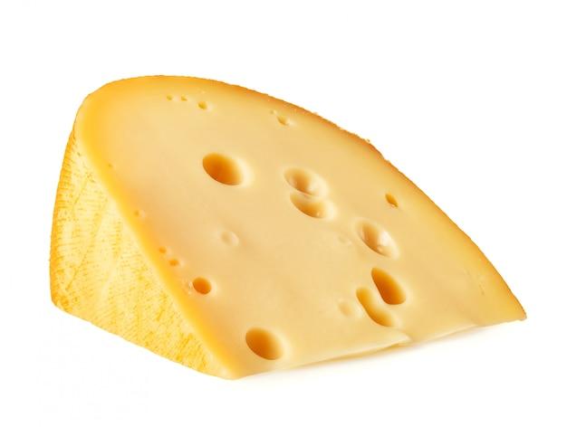 Pedaço de queijo deitado de lado