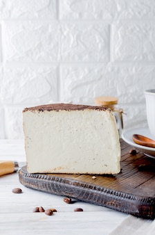 Pedaço de queijo mole