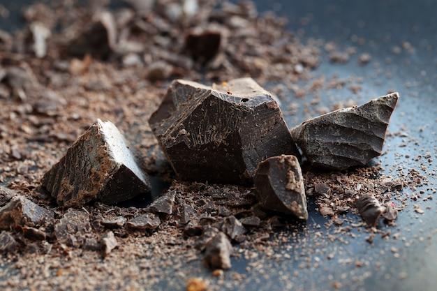 Pedaços de chocolate doce