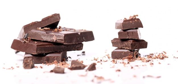 Pedaços de chocolate preto