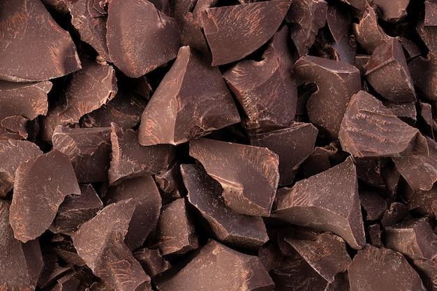 Pedaços de fundo de chocolate escuro