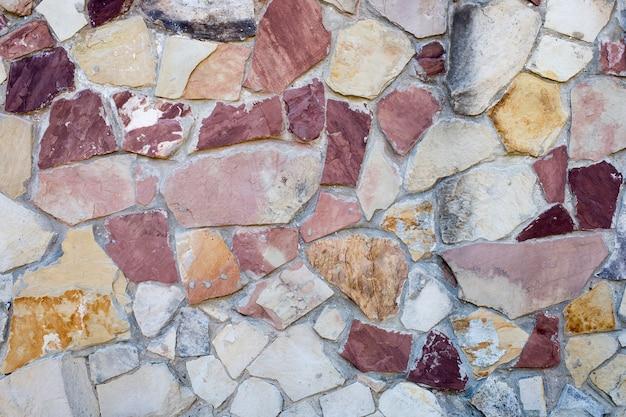 Pedaços de ladrilho de mármore