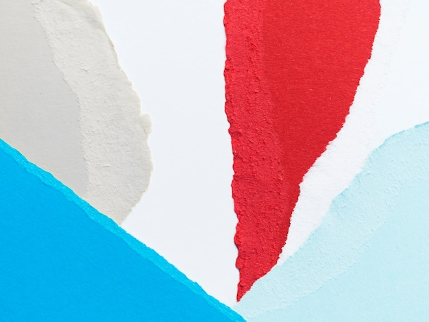 Pedaços de papel coloridos