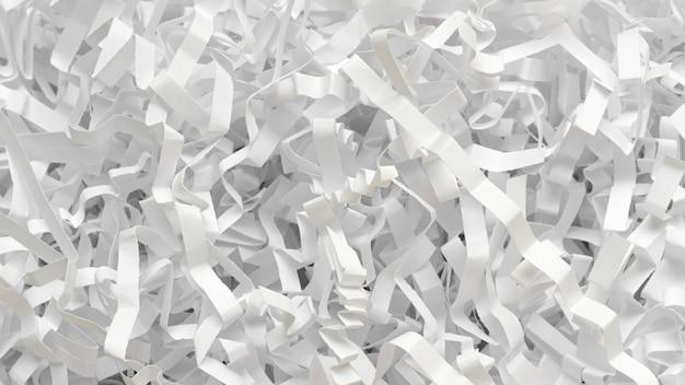 Pedaços de papel monocromático plano