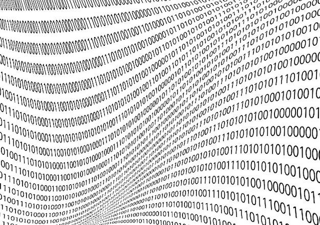 Pedaços do código binário do sistema os zeros