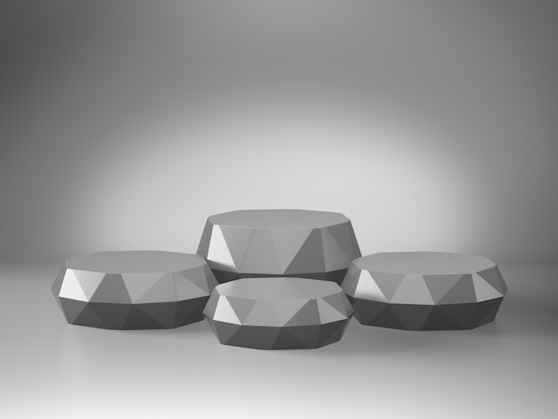 Pedestal cinza para exibição com limbo