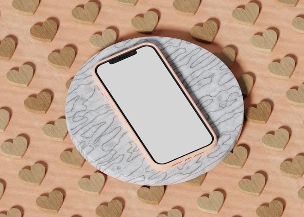 Pedestal de mármore para celular